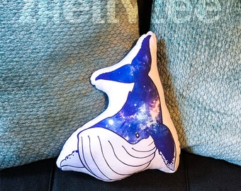 Space Whale Pillow Plush
