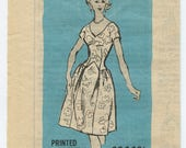1960's Prominent Designer Mail Order Pattern A645 Scaasi Misses' V Neck Cocktail Dress & Petticoat Bust 31