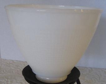 Milk Glass Hurricane, Lamp Shade