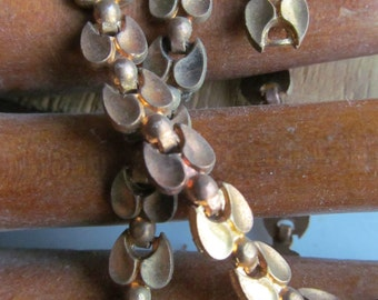 Rare And Gorgeous Vintage Linked Brass Chain