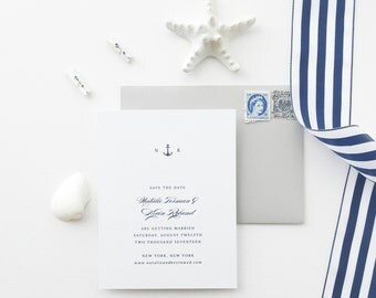 Natalie Nautical Wedding Save the Date - Sample