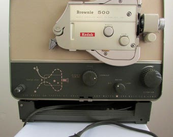 1950s Brownie 500 Model C 8mm home projector with reel