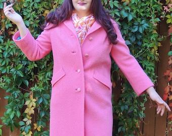 Vintage 1960's Pink Wool  Coat