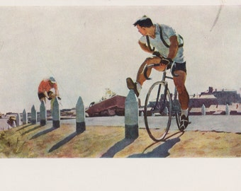 """P. Ossovsky """"Edge of the city"""" Postcard -- 1959. Condition 8/10"""