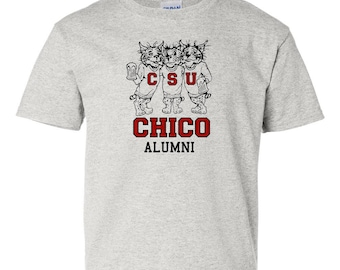 "CHICO STATE ""Three Drinking Wildcats"" T-SHIRT"