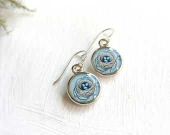 Nest Silver Earrings