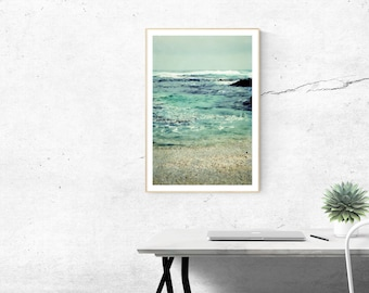 large beach photography // abstract ocean photography // beach art -  Big Sur Mermaids, large photography print