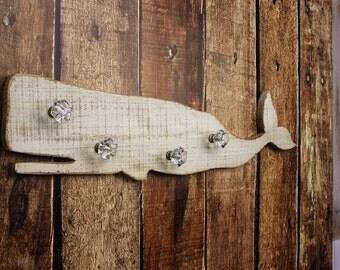 Wall Hooks, Whale Hook Wall Decor - Bathroom Towel Hook - Nautical Hook - Whale Towel Hook - Whale Coat Rack - Nautical Nursery Decor