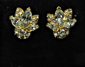 Vintage SPARKLY RHINESTONE EARRINGS Monet Pierced Jewelry Bride Gift