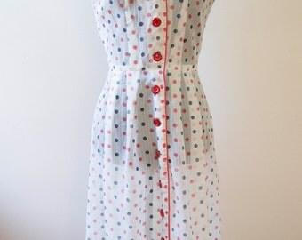 Early 50s Sleeveless Sheer Nylon Dress Size Small