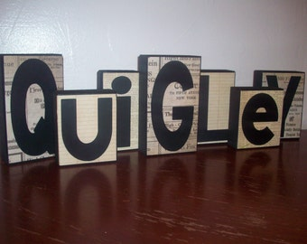 Customize Family Name Block Letters, Custom Family Blocks, Custom Name Blocks, Family Name Sign, Family Name Blocks, Custom Block Letters