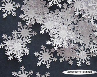 Snowflake Confetti  - 100 pieces - Scrapbook Embellishment, Table Decoration, Card Making, Tag Making