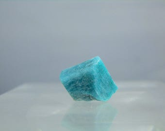 Single Natural Amazonite Feldspar Microcline Crystal Specimen Rough Mineral From Park County Colorado 3.68 grams Great Color