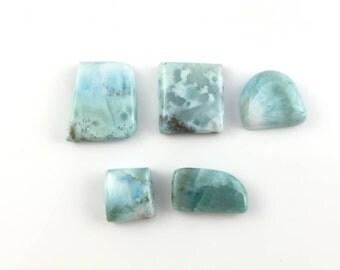 Larimar Natural Stone Cabochons | Parcel Lot of 5