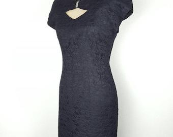 Jessica Howard Black Lace Cocktail Dress - Medium