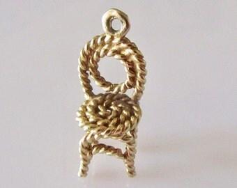 9ct Gold Chair Charm