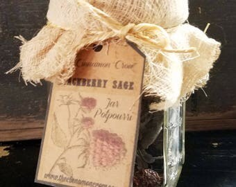 Blackberry Sage hand crafted Jar Potpouri