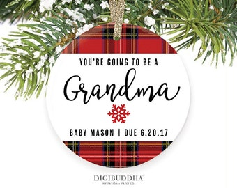 You're Going To Be a Grandma Ornament Pregnancy Announcement Ornament We're Expecting Ornament Pregnancy Ornament Grandmom Grandmother To Be