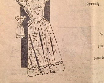 "Vintage 1940s 50s Sewing Guide Mail Order Pinafore Apron Pattern 8571 Size 18 (36"" Bust)"