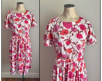 Vintage 1960s Lightweight Polyester Nylon Day Dress Casualmaker by Sy Frankl 2 4