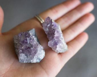 2 Amethyst Clusters - Crystal Destash