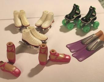 Bratz Shoes, Bratz Skates, Bratz ballet slippers, Bratz  flippers, bare feet, Bratz barefeet, Bratz flats, Bratz sneakers,