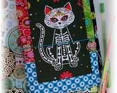 OOAK Fauxdori, Dia De Los Muertos Cat Fauxdori, Sugar Skull Cat Midori, Traveler's Notebook, Free Insert!