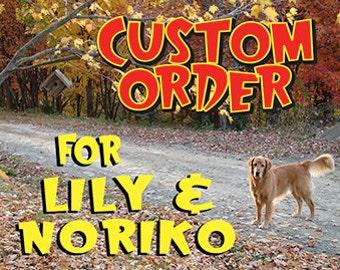 Custom Listing for Lily & Noriko