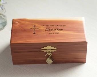 Personalized First Communion Keepsake Box: Personalized First Communion Gift, First Communion Keepsake Box, 1st Communion