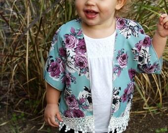 Toddler lace kimono | Etsy