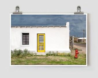 Yellow Door Marfa Texas Fine Art Photograph