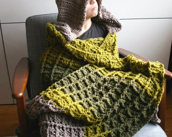 Dinosaur Blanket Crochet pattern, dino hooded blanket crochet pattern (257) INSTANT DOWNLOAD