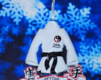 Personalized Karate Christmas Ornament