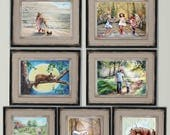 Art print Set Nursery, Discounted -Choose  2 - 4 any art in my shop, signed titled,  kids room, living room, wall art,  Laurie Shanholtzer