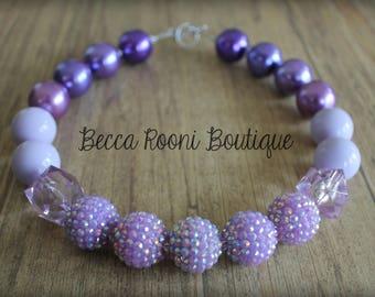Fabulous Purple Chunky Bubblegum Necklace, Bubblegum Necklace, purple bubblegum necklace, chunky necklace, children's chunky necklace