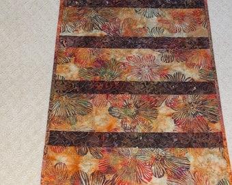 Batik Table Topper in Earthtones