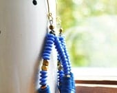 African hoop earrings, African jewelry, Ethnic jewelry, African trade  bead earrings, African large hoop earrings, African boho earrings,