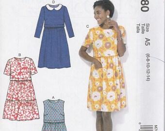 Simple Dress Pattern McCalls 7080 Sizes 6 - 14 Uncut