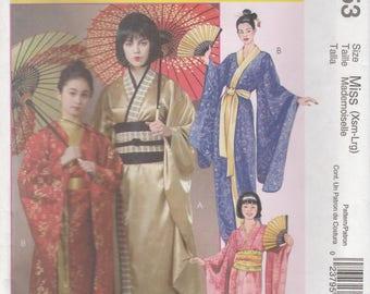 Adult Kimono & Obi Costume Pattern McCalls 4953 Sizes 4 - 18 Uncut