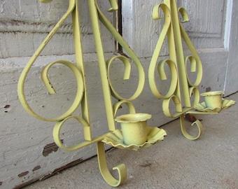 Metal Wall candle holders vintage