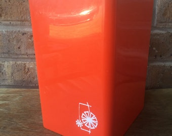Red Poly-Flex Kitchen Canister, 1960's
