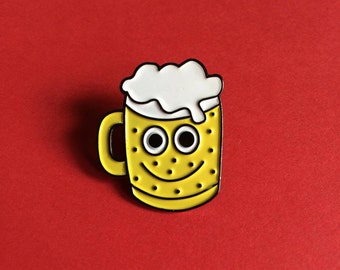 Enamel Pin, Beer Pin, Cute Alcohol Pin, Pint of Beer Pin, Ale Pin, Fun Pin, Gifts For Him, Stocking Stuffer, Beer Glass Pin, Craft Beer Pin