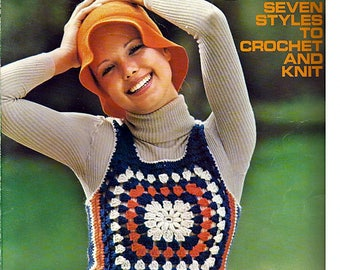 Shink Tops Seven Styles Crochet And Knit Pattern Book Columbia Minerva Leaflet 2543