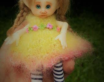 one only ever!! tiny bjd fair skin Kirby fairy elf fairie full set dressed ready to ship
