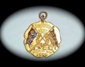 Baltimore Athletic Club Medal 1900 Gold-Filled with Enamel