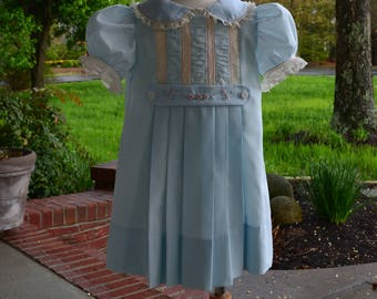 Front pleated Heirloom dress
