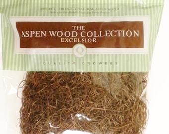 Brown Wood Excelsior, Aspen Wood Shred, Primitive Bowl Fillers