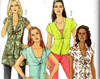 "Easy Women's Wrapped Top and Camisole Pattern - Size 16, 18, 20, 22, Bust 38"", 40"", 42"", 44"" - Butterick B4986 uncut"