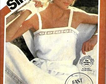 Simplicity 5977 Fast & Fabulous Two-Piece Dress And Shawl Pattern, Size 12-14-16, UNCUT