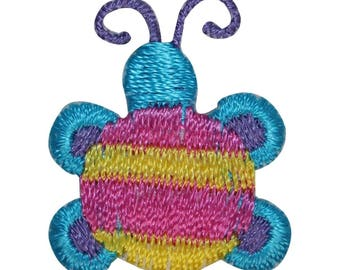 ID 0447 Lot of 3 Tiny Bug Patch Garden Insect Craft Embroidered Iron On Applique